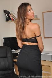 pretty slim secretary stockings
