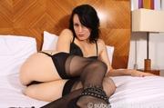 brunette babe stockings drilling