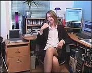 slutty secretary stockings drilling
