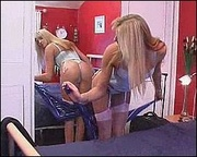 blonde teen white stockings