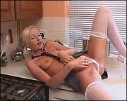 pigtailed milf white stockings