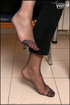 bare feet stockinged feet