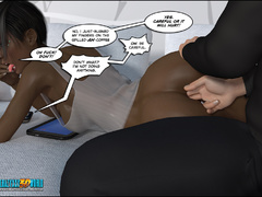 A drooling ebony-ivory sex-capade in a fast track - Picture 3