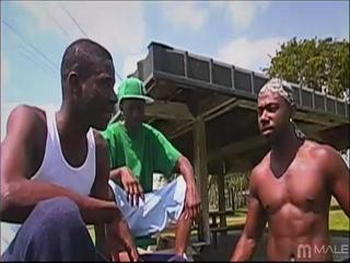 black horny dudes play