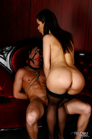 Guy with hands tied and face restraint g - XXX Dessert - Picture 4
