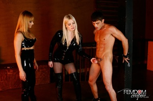 Guy with hands tied at back gets punishe - XXX Dessert - Picture 1