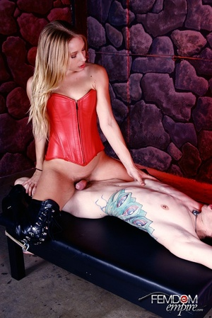 Cute girl in red subdues and fucks guy w - XXX Dessert - Picture 6