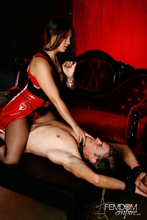 Hot bad girl punish guy with hands tied  - XXX Dessert - Picture 3
