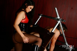 Hot bad girl punish guy with hands tied  - XXX Dessert - Picture 11