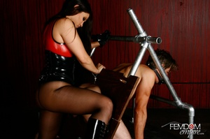 Hot bad girl punish guy with hands tied  - XXX Dessert - Picture 12