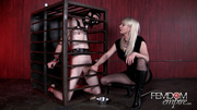 happy naughty blonde subdues