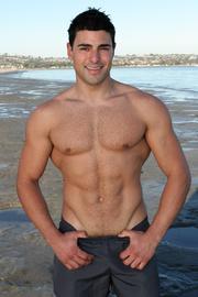muscular men show off