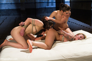 Double pussy licking, spanking, big dild - XXX Dessert - Picture 7