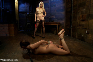 Cute girl gets tied, pegs on pussy, span - XXX Dessert - Picture 3