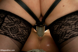 Cute girl gets tied, pegs on pussy, span - XXX Dessert - Picture 7