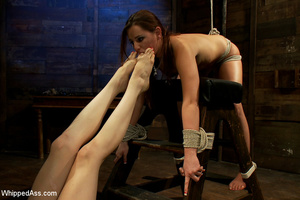 Cute girl gets tied, pegs on pussy, span - XXX Dessert - Picture 8