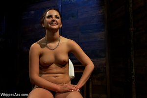 Cute girl gets tied, pegs on pussy, span - XXX Dessert - Picture 10