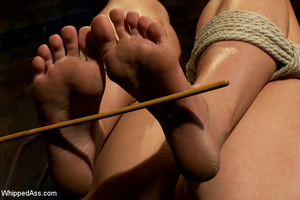 Cute girl gets tied, pegs on pussy, span - XXX Dessert - Picture 13