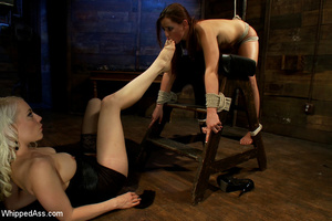 Cute girl gets tied, pegs on pussy, span - XXX Dessert - Picture 14