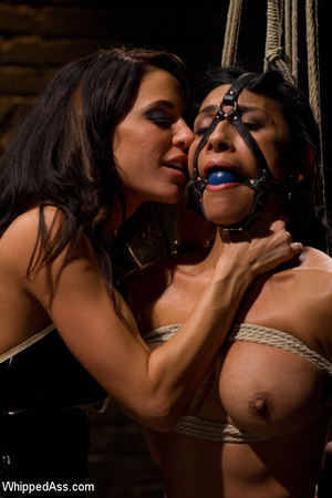 Tied up girl moans as breast is pegged,  - XXX Dessert - Picture 8