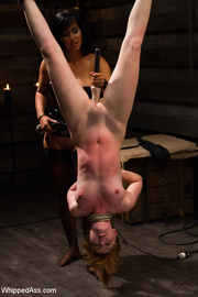 horny girl spanked and
