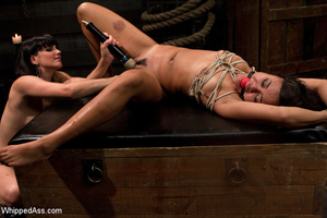 Girl gets tied, before her bushy pussy i - XXX Dessert - Picture 10