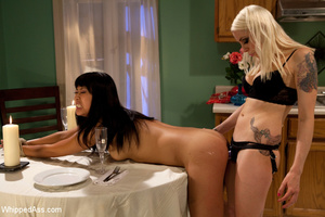 Queen blonde ties up girl and uses her f - XXX Dessert - Picture 7
