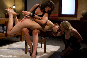 Painful tying up plus lesbian fingering  - XXX Dessert - Picture 4