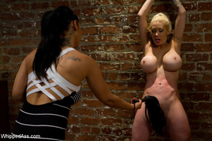 Hot blonde gets her pussy clipped, whipp - XXX Dessert - Picture 10