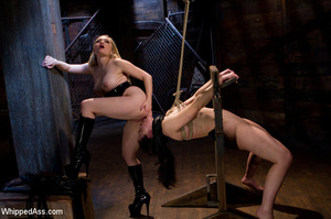 Tying up action with pegging, pussy and  - XXX Dessert - Picture 4