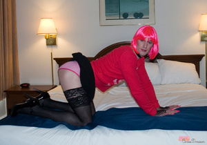 Hot and flashy cross dresser takes some  - XXX Dessert - Picture 5