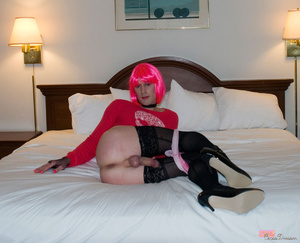 Hot and flashy cross dresser takes some  - XXX Dessert - Picture 8