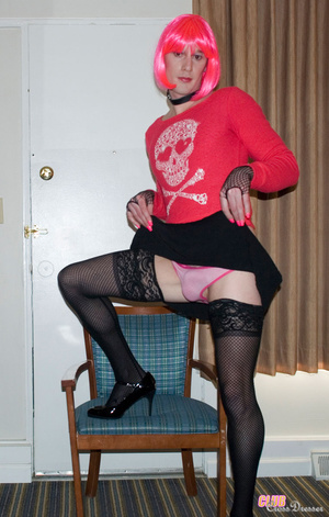Hot and flashy cross dresser takes some  - XXX Dessert - Picture 16