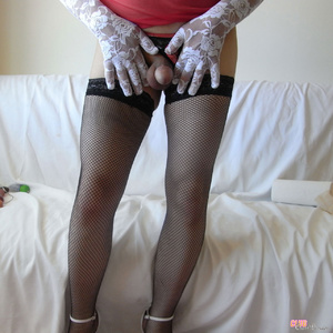 Naughty men love to dress up as hot chic - XXX Dessert - Picture 5