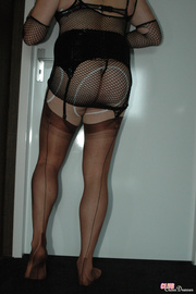 naughty crossdresser shows off