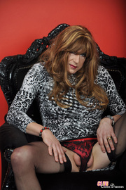 crossdresser out with pretty