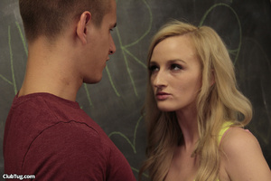 Cute blonde student gives mate a sweet h - XXX Dessert - Picture 4