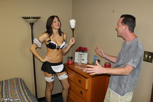 Expert hand job action as sweet babe use - XXX Dessert - Picture 1