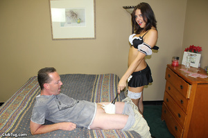 Expert hand job action as sweet babe use - XXX Dessert - Picture 4