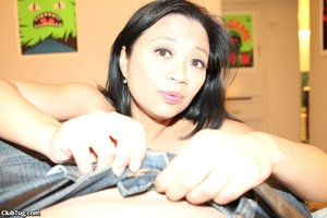 Black hair Asian uses cream to wax hard  - XXX Dessert - Picture 2