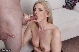 cute matured blonde licks