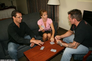 Naughty mature lady abandons poker game  - XXX Dessert - Picture 1