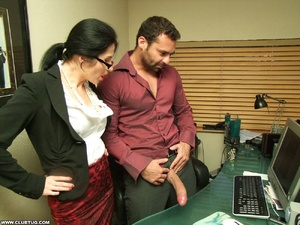 Two sexy secretaries help man caught mas - XXX Dessert - Picture 6