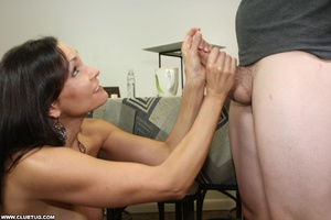 Horny bitch exposes tits and gets on kne - XXX Dessert - Picture 5