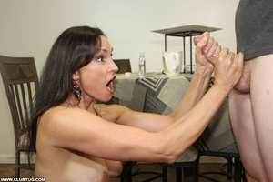 Horny bitch exposes tits and gets on kne - XXX Dessert - Picture 6
