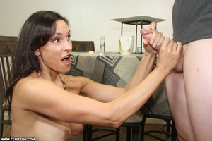 Horny bitch exposes tits and gets on kne - XXX Dessert - Picture 8