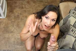 Horny bitch exposes tits and gets on kne - XXX Dessert - Picture 9