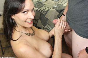 Horny bitch exposes tits and gets on kne - XXX Dessert - Picture 11