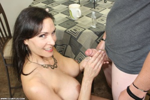 Horny bitch exposes tits and gets on kne - XXX Dessert - Picture 12