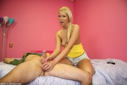 blonde gets serious she